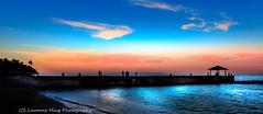 Enjoying the Hawaiian Sunset (lavonnehing) Tags: deep hawaii oahu photomatix siloettes sunset waikiki