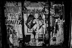 Mexico City (RW Sinclair) Tags: fuji fujifilm ilc mirrorless xt1 mexico city mexicocity march 2019 street art streetart sticker flyer poster bnw blackandwhite noir monochrome bw
