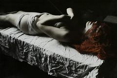(Nynewe) Tags: red self mysterious portrait nynewe saint sebastian sainted holy body selfportrait michaela knizova mystery female chiaroscuro poetic romanticism sentimentality old surreal
