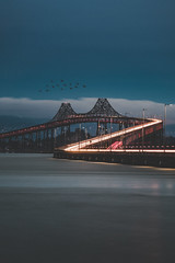Zorro (KurteeQue) Tags: zorro nightphotography photography bridge bayarea richmondbridge benro nikon nikond850 d850 lightstreaks longexposure leefilters bluehour photo oneshot 1shot 6stop filter filters