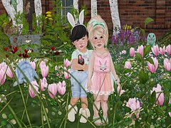 Happy Easter (Zaidood -Lil & Big Blogger-) Tags: jian tiptoes lulabelle twinbeauty junkfood doe nature kids theplayroom colormecute cmc bunny easter