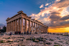 Sunset in Acropolis (Vagelis Pikoulas) Tags: sun sunset acropolis athens greece attiki attica europe travel holidays sky skyscape landscape city cityscape urban architecture archaelogical archaeology view tokina 1628mm canon 6d april spring 2019