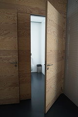 2019-04-FL-208487 (acme london) Tags: bathroom exhibition fondationlafayette museum oma paris ply plywood plywoodcladding remkoolhaas timber timberwalls toilet walls
