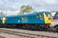 84001, Barrow Hill (JH Stokes) Tags: 84001 class84 electriclocomotives preservation preservedlocomotives locomotives barrowhill brblue trains trainspotting tracks transport railways railroads photography