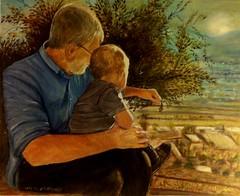 quadro  nonno  nipote (pupatticantropa) Tags: nonnonipote paesaggio natura sole