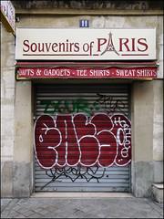 Fatso (Alex Ellison) Tags: fatso yks mtv shop store shutter paris france urban graffiti graff boobs