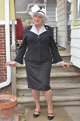 Mature Woman (Laurette Victoria) Tags: pumps heels suit laurette hat easter