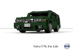 Volvo V70 T5 Estate (1997) (lego911) Tags: volvo v70 1997 t5 estate wagon sweden swedish 1990s auto car moc model miniland lego lego911 ldd render cad povray afol turbo family safety