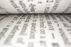 Folded Book (adamopal) Tags: canon canon7d canon7dmkii foldedbook folded book dictionary text words experiment lensexperiment laowa laowa25mm probelens macro macro25mm 25mm grainy black white grey