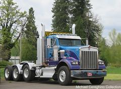 All-Ways Towing & Heavy Haul Kenworth W900B, Truck# 08 (Michael Cereghino (Avsfan118)) Tags: allways all ways towing heavy haul kenworth w900b w900 b w 900 900b 4 axle quad daycab trucking semi truck