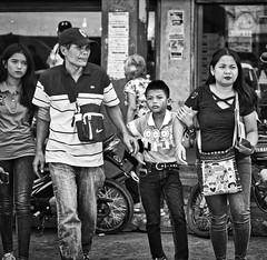 Rosettes (Beegee49) Tags: street people family blackandwhite monochrome graduation bw bacolod city philippines asia happyplanet asiafavorites