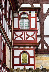 Around St Martin (Brett of Binnshire) Tags: manipulations on1raw streetscene forchheim halftimber architecture franconia locationrecorded scenic germany bavaria wall town bayern window