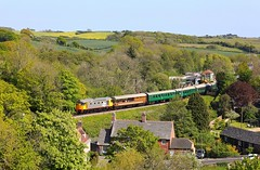 26007 Corfe Castle (Robert Sherwood) Tags: 26007 departs corfe castle hauling 1539 swanage river frome sunday 12th may 2019