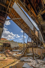 Ore Conveyor Exterior (Jeff Sullivan (www.JeffSullivanPhotography.com)) Tags: mine stamp mill historic mining ghost town esmeralda county nevada usa abandoned rural decay photography nikon d850 photos copyright jeff sullivan may 2019 hdr photomatix