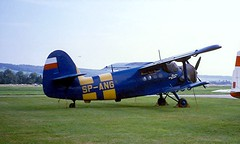 SP-ANG   Antonov An-2T [1G26-17] Grenchen~HB 12/08/1997 (raybarber2) Tags: 1g2617 abpic airportdata biplane cn1g2617 filed flickr lszg planebase polishcivil print propliner proptransport raybarber single spang