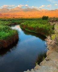 It is not the mountain we conquer but ourselves… (ferpectshotz) Tags: bishop inyocounty california sunrise owen'sriver owen'svalley valley river desert volcanictablelands easternsierra sierranevada mountains mountainrange outdoor landscape