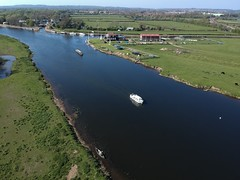 (Sam Tait) Tags: trent lock easter sunday sunny dji spark river cruiser coat narrowboat canoe sailing sail