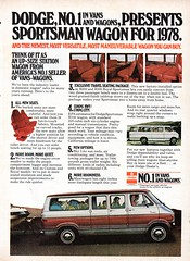 1978 Dodge Sportsman Wagon Van Chrysler Corporation USA Original Magazine Advertisement (Darren Marlow) Tags: 1 7 8 9 19 78 1978 d dodge s sportsman w wagon v van c chrysler corporation car cool collectible collectors classic a automobile vehicle u us usa united states american america 70s