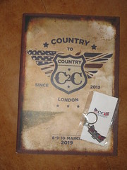 Day 3 of Country To Country (Paranoid from suffolk) Tags: 2019 programme keyring c2c countrytocountry music festival o2 arena london england