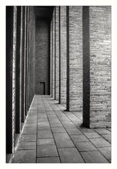 Hauptfriedhof  analog und unbunt (Perspektivenwechsel / Fotografie Sabine Werfel) Tags: analog analogue canonf1 retropansoft monochrom monochrome blackandwhite schwarzweis architektur architecture bochum ruhrgebiet