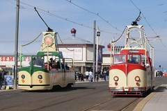 BT 227 and 600 @ North Pier, Blackpool (ianjpoole) Tags: blackpool transport open boat tram 227 600 north pier
