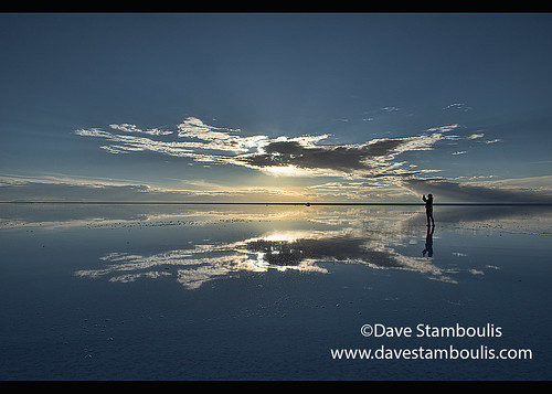 The World S Largest Mirror Sunset On The Salt Flats Of The