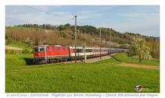 "Re 4/4"" 11143 NightJet - Lottstetten (CC72080) Tags: euronight nightjet lottstetten 471 en471 nj471 re420 re44 bobo sbb cff ffs öbb nachtzug personenzug zug train treno notte nuit extrafahrt locomotive lokomotive locomotiva couchette voiturelit"