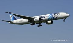 Egyptair B777 ~ SU-GDR (© Freddie) Tags: londonheathrow poyle heathrow lhr egll 09l arrivals egyptair boeing b777 b773 sugdr fjroll ©freddie