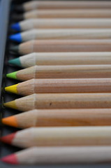 Colored pencils (Pictures by Ann) Tags: colorpencils coloredpencils rainbow sharpened perfect