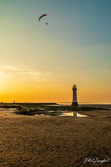 Sunset over Liverpool Bay near New Brighton (Phil Longfoot Photography) Tags: sunset sun golden landcape landscape photography river bay sea liverpool newbrighton wirral wirralpeninsula