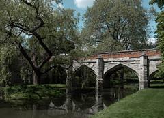 The bridge to Eltham Palace (V Photography and Art) Tags: bridge stone structure architecture tree water reflection elthampalace london