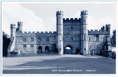 Battle Abbey - Front Façade of Gateway (pepandtim) Tags: postcard old early nostalgia nostalgic 48bag39