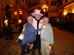 Three Ladies Celebrating Mother's Day (Laurette Victoria) Tags: girlfriends woman laurette suit hat hotel lobby milwaukee pfisterhotel mothersday