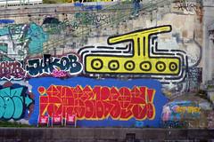 URBAN ART ALONG THE DANUBE CANAL IN VIENNA (artofthemystic) Tags: austria danubecanal vienna urbanart graffiti wienflus