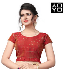 Red Silk Saree Blouse (yoyo_fashion) Tags: