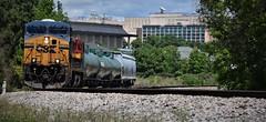 CSX Q211-20 (ryanstuart1) Tags: csx columbia sc kcs kansas city southern ge locomotive freight train skyline