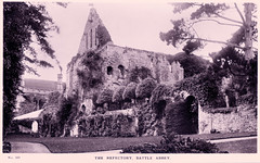 Battle Abbey - The Refectory (pepandtim) Tags: postcard old early nostalgia nostalgic battle abbey refectory dormitory sussex 95bat52 photographic earl street hastings