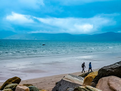 Rossbeigh beach in Gleenbeigh Co. Kerry Ireland (krpena.lutkica) Tags: beach blue visiting tourism tourist ocean atlantic waves people couple