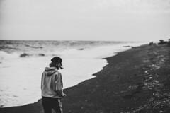 The girl and the sea (mripp) Tags: santorini bnw monochrome bnwcaptures bnwmood bwlovers bnwoftheworld monochromatic iroxbw igersbnw instapickbw worldbnw noirstreetlife bwlife monoart noir instablackandwhite bwsociety greyscale bnwperfection bnwphotos