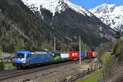1216 920 + 193 744, TEC 40531. Mallnitz-Hintertal (M. Kolenig) Tags: 1216 193 tauernbahn berg baum schnee wald mallnitz