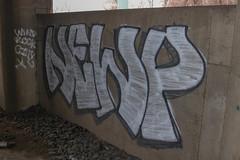 Newp (NJphotograffer) Tags: graffiti graff new jersey nj trackside rail railroad bridge newp