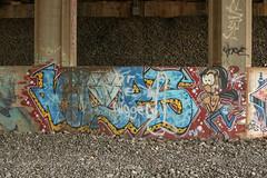 Klops (NJphotograffer) Tags: graffiti graff new jersey nj trackside rail railroad bridge klops