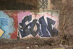 Fun (NJphotograffer) Tags: graffiti graff new jersey nj trackside rail railroad bridge fun