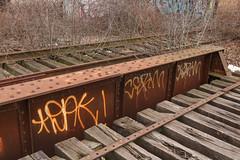 Dak, Cerm (NJphotograffer) Tags: graffiti graff new jersey nj trackside rail railroad bridge dak cerm izm 2wcrew 2w crew
