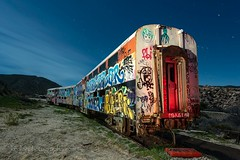 Painted Lady (Ken Lee Photography) Tags: night photography train stars desert graffiti long exposure ken lee ngc