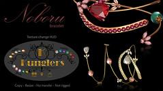 KUNGLERS - Noboru bracelet (AvaGardner Kungler) Tags: kunglers avagardnerkungler avakungler secondlife jewelry bracelet mesh 3d virtual shinyshabby ruby gemstone pearl