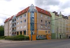 Frankfurt (Oder) (Heiko Haberle) Tags: ddr gdr ostdeutschland ostmoderne socialist plattenbau edelplatte edel platte postmoderne postmodern kacheln ornament fassade facade beton concrete