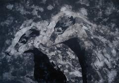 to make a warm home (Christian Haupt) Tags: stencil serigrafie spraypaint sprayart art acryl malerei monochrom painting pochoir