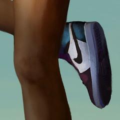 Air Jordans (Nathaly Cuervo R) Tags: fine art painting nike air jordan angel sneakers jump nathaly cuervo