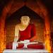 Glowing Buddha Statue, Bagan Myanamr